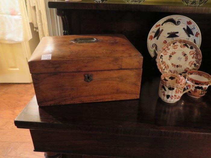 victorian sewing box & mason china
