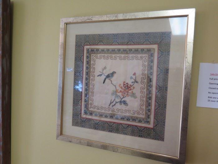 framed silk