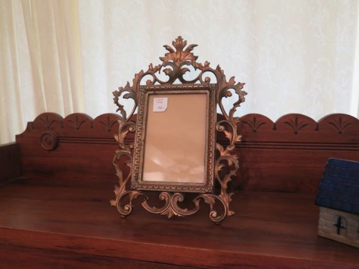 antique iron frame