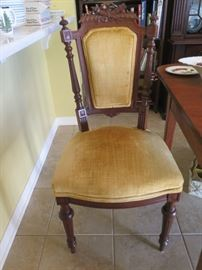 one of 4 victorian chairs