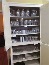 view of crystal cabinet, waterford, Hawkes