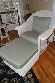 Lloyd and Loom wicker chair and ottoman