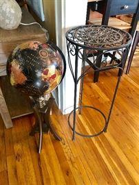 Floor Globe.  Plant Stand