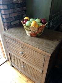 Sleek lateral 2 drawer file cabinet