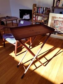 Ernest Sohn high tray table — we have a pair but one is chipped.