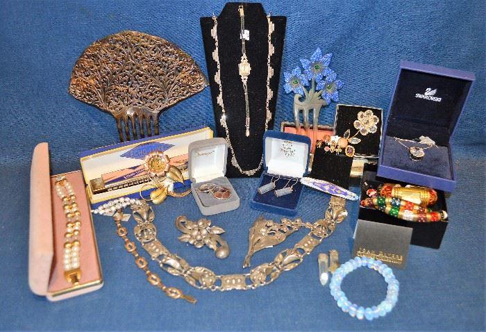Jewelry including Sterling, Swarovski, Platinum, Marcasite