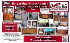 Borgerding Estate auction ad Dutzow