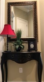 Entry Table, Mirror and Accessories