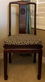 Beautiful Asian Inspired Design Drop Front Desk and Matching Chair