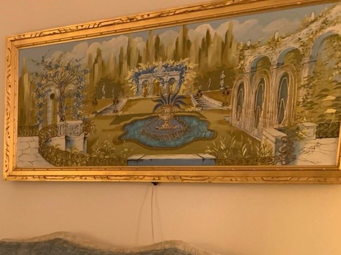 Italian Villa style painting - Lights up