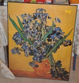 Irises Vase Flower, Vincent Van Gogh reproduction, giclee canvas
