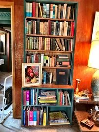 Original oil painting, one bookcase of books including 1st additions.