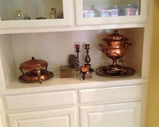 copper serving pieces