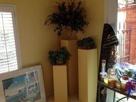 yellow pedestals