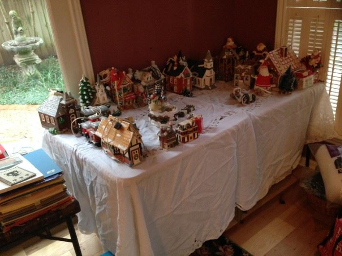 Santa and Christmas village