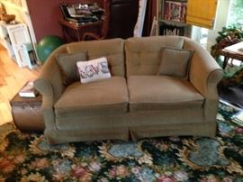 Sofa and area rug