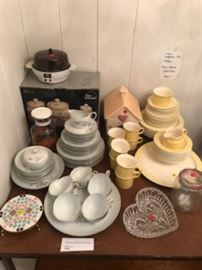 Vintage dishes - cookie jars, canisters, vintage cut glass