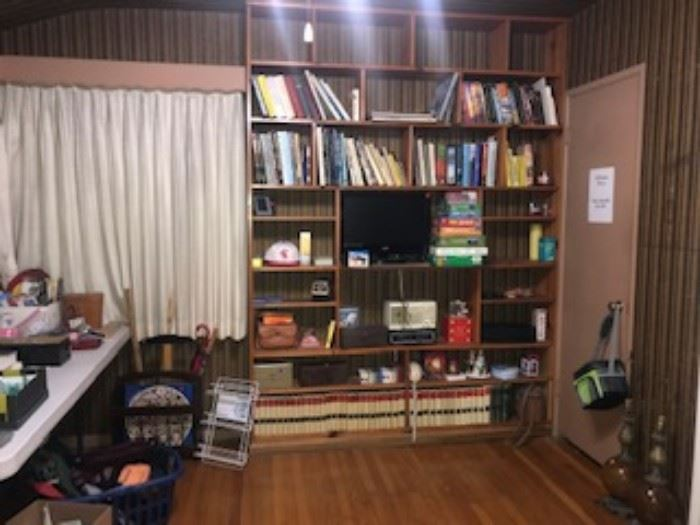 Books, encyclopedias, vintage 1965-1979, lamps. vizio tvs, computer monitor