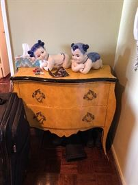 #1 Small Dresser Showroom, inspect for damage plus Chinese baby's there are 4 total 2 large pictured 1 medium and 1 small