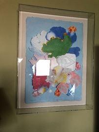 #1 Lucite framed paper art collage Showroom