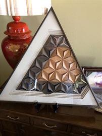 #1 Paper art showroom and Orange oriental lamp