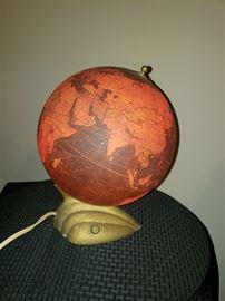 Vintage Glass Light up Globe