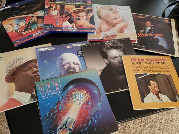 Vintage Vinyl Records- Oldies, Nat King Cole, Van Halen, Frank Sinatra, Bryan Adams and more