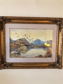 """James Grieg  R. B. A (English, water color) """"The Trossachs"""