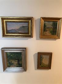4 small May Ames (Cleveland, early Impressionist)