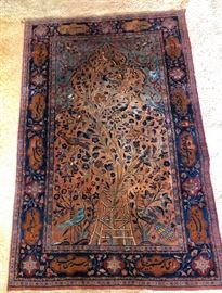 Lovely small Persian rug (very tight weave) 3' x 2.5' by sight/memory