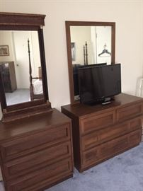 Here are the two mirrored, mid-century dressers.