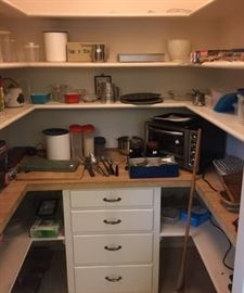 This is the kitchen pantry, with some of the kitchen equipment.