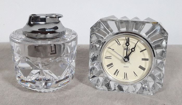 Mikasa Clock and matching Lighter