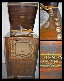 Antique Cheney phonograph
