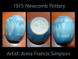 Small Newcomb Pottery piece