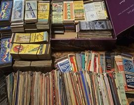 15,000 matchbooks and 40,000 pieces casino collectibles