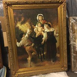 lots artwork 150 framed pieces