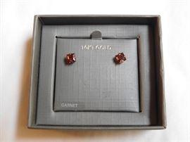 14 k Garnet Earrings