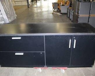 72 inch Black Credenza