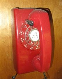 vintage rotary wall phone