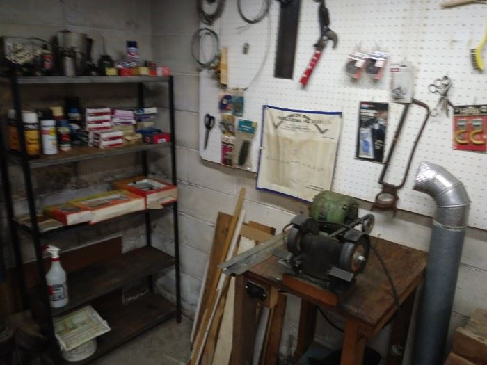 Hardware, electrical supplies and Table grinder