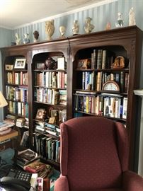 Bookcases, books & collectibles