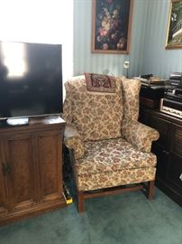 Wing chairs, cabinets & tables
