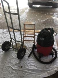Shop Vac + 3-foot ladder + hand cart /dolly