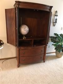 Nice wood entertainment cabinet