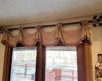 Window treatments and rods. Fabric from Calico Corners.