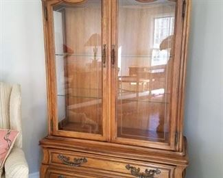Hickory china cabinet (matching mobile server not pictured)