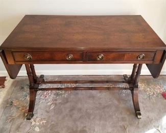 Hekman drop leaf library table writing desk
