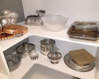Bakeware. Cast aluminum lamb cake mold and more