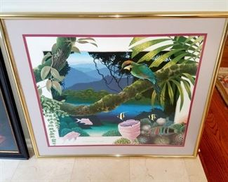 Framed art and lithographs